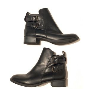 Size 9 Black Moto boots/ booties